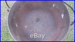 Antique HUGE Footed Cast Iron Cauldron (D. R. Sperry)Batavia, Ill. Forged Base Ring