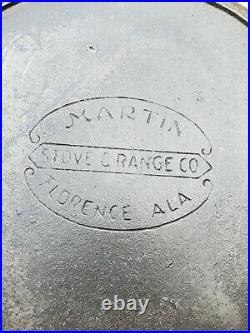 Antique Rare Martin's Stove & Range Co #10 Cast Iron Skillet withHeat Ring