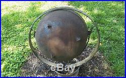 Antique Vintage Cast Iron Cauldron Wash Pot Vintage With Handles & Ring Stand