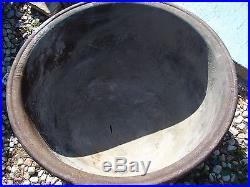 Antique Vintage Cast Iron Sausage Cauldron Kettle