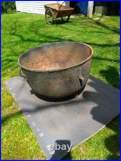Antique /Vintage Collectible Large Cast Iron Black Cauldron Not a Reproduction