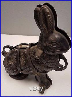 Antique Vintage Griswold Cast Iron #862 & #863 Easter Bunny Rabbit Cake Mold USA