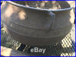 Antique Vintage Large Cast Iron Cauldron Pot Yard Kettle 15Gallon
