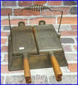 Antique Wagner Double Waffle Iron Sidney Ohio 1892