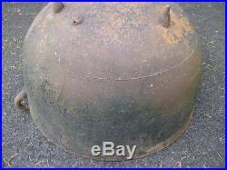 Antique cast-iron cauldron wash pot Vintage Large Cast With Handles