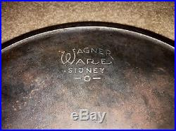Authentic Wagner Ware Cast Iron Skillet #14 Sidney O #1064