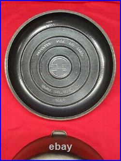BEAUTIFUL #13 GRISWOLD CAST IRON TITE-TOP DUTCH OVEN with RAISED LETTER LID SCARCE