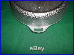 BEAUTIFUL CHROME #5 GRISWOLD HINGED HAMMERED CAST IRON SKILLET With NOS UNUSED LID