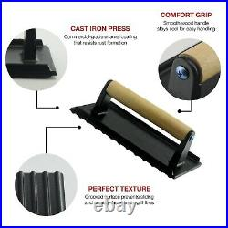 Bacon Press- Enameled Anti Rust Cast Iron Grill Press- Meat Press- Burger Press