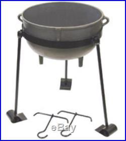 Bayou Classic CI-7404 4 Gallon Cast Iron Jambalaya Pot Set