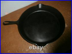 Beautiful Rare Erie No. 12 Cast Iron Skillet Heat Ring Restored Pre Griswold