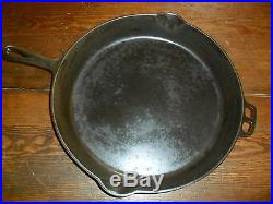 Beautiful Wagner ware cast iron skillet #14 Sidney o #1064 Very Nice