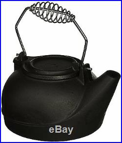Black Vintage Wood Stove Cast Iron Kettle Pot Steamer Fireplace Steam Water Dry