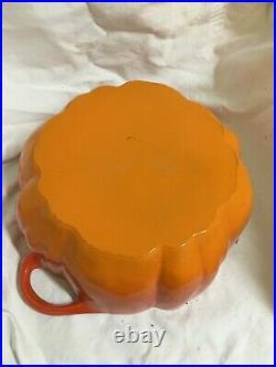 Burnt Orange Staub Cast Iron Enamel Pumpkin Cocotte Dutch Oven Cooking