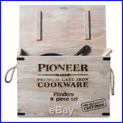 Campfire Pioneer Flinders 9 Piece Cast Iron Camp Cookware set