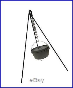 Camping Cast Iron Cooking & Lantern Tripod. Camp Fire Dutch Oven Pot Pan Holder