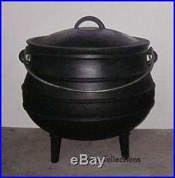 Cast Iron Cauldron 5 Gal Sz 8 Potjie Pot Outdoor Wilderness Survival Dutch Oven