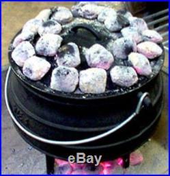 Cast Iron Cauldron Sz 4 Potjie Pot Outdoor Survival Gypsy Kettle