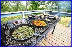 Cast Iron Cookware Combo Cooker Pre Seasoned 3Qt Dutch Oven 10 Shallow Skillet