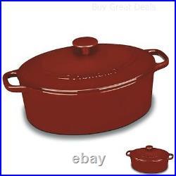 Cast Iron Cookware On Sale Dutch Oven Enameled Casserole Enamel Coated 5.5 Quart
