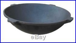 Cast Iron Cookware Saucepan Tempered Durable Cooking Camping Pan Pot Wok Outdoor