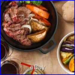 Cast Iron Dutch Oven 5 Qt Pre-Seasoned Pot Handled Lid Cover Cookware Lodge