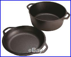 Cast Iron Dutch Oven Pre-Seasoned 5-Quart Pot Skillet Cover Cookware Lodge New