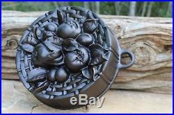 Cast Iron Fruit Cake Pan Mold Bread Bundt Casserole