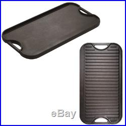 Cast Iron Griddle For Grill LODGE Cookware Grilling Plate BBQ Steak Gas Stove