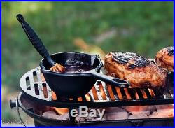 Cast Iron Grill Outdoor Pre Seasoned Charcoal Hibachi Style BBQ Barbecue Picnic