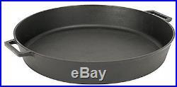 Cast Iron Jumbo Round Skillet Heavyweight Frying Searing Braising Pan Large