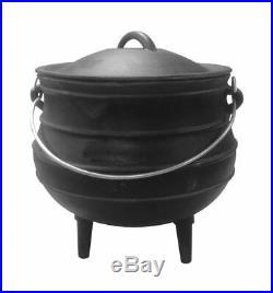 Cast Iron Stew Pot Camping Cooking Pot Dutch Oven Stock Pot Open Fire Pot
