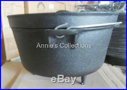 Cast iron Dutch Oven 3 Gallon 12 qt Camping Cookware Wilderness Survival