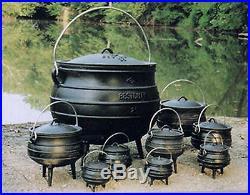 Cast iron Potjie pot Cauldron Outdoor Gypsy Kettle Survival Sz 14