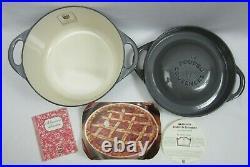 Cousances Le Creuset #22 Emamel Dutch Oven 3.5qt Belle Epoque