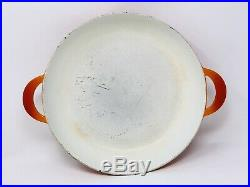 Descoware Enameled 12 Skillet Double Handle Flame Orange/Red Cast Iron Cookware