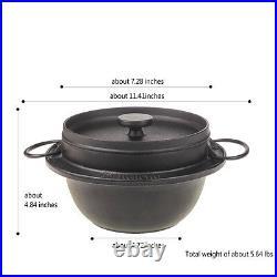 Details about Cast Iron Cookware Dutch Oven Camp Tent Pot Grill Pit japan new