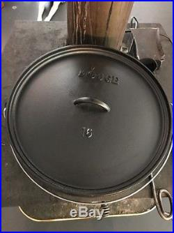 Discontinued Huge Lodge 16 Cast Iron Dutch Oven
