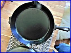 ERIE #12 GRISWOLD CAST IRON SKILLET-SLANT LOGO with LID