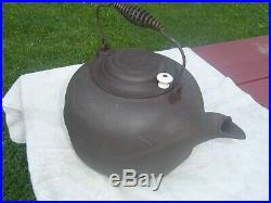 ERIE # 9 Cast Iron Tea Kettle with SPIDER LOGO, Early 1880's, NICE, VERY RARE
