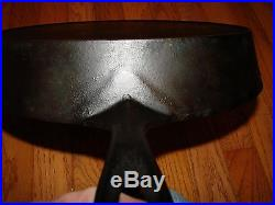 ERIE Cast Iron 12 SKILLET Pre-GRISWOLD Circa 1865-1909 PN 719 With Heat Ring