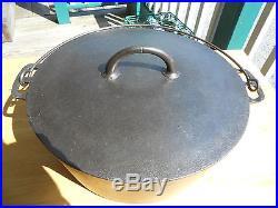 ERIE' Pre- GRISWOLD #10 DUTCH OVEN -Flat Top -Black Cast Iron