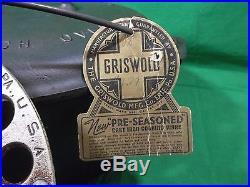 EXCELLENT #10 GRISWOLD ERIE CAST IRON DUTCH OVEN with LID, TRIVET & ORIGINAL TAG