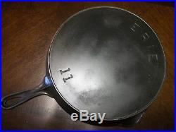 Early #11 Pre-Griswold Cast Iron ERIE Skillet #11/Sits Flat & Very Clean/NICE