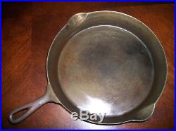 Early #11 Pre-Griswold Cast Iron ERIE Skillet #11/Sits Pretty Flat &Very Clean