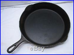 Early Erie Pre-Griswold No. 11 Skillet Cast Iron Fry Pan Heat/Smoke Ring Frying