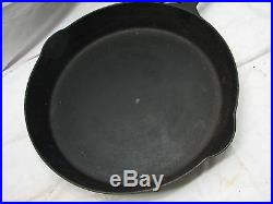 Early Erie Pre-Griswold No. 12 719 Skillet Cast Iron Fry Pan Heat Ring Frying