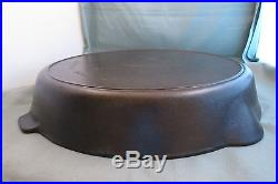 Early, Griswold #14 Cast Iron Skillet, Frying Pan, Large Block Logo, Heat Ring, PN718