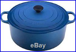 Enameled Cast-Iron 13-1/4-Quart Round French (Dutch) Oven, Marseille