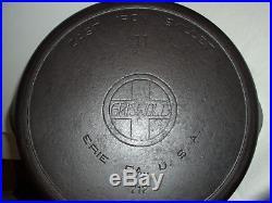Erie Griswold 717 #11 Cast Iron Skillet Slant Logo Restored Sits Flat